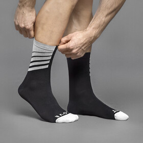 GripGrab Racing Stripes Socks black/white